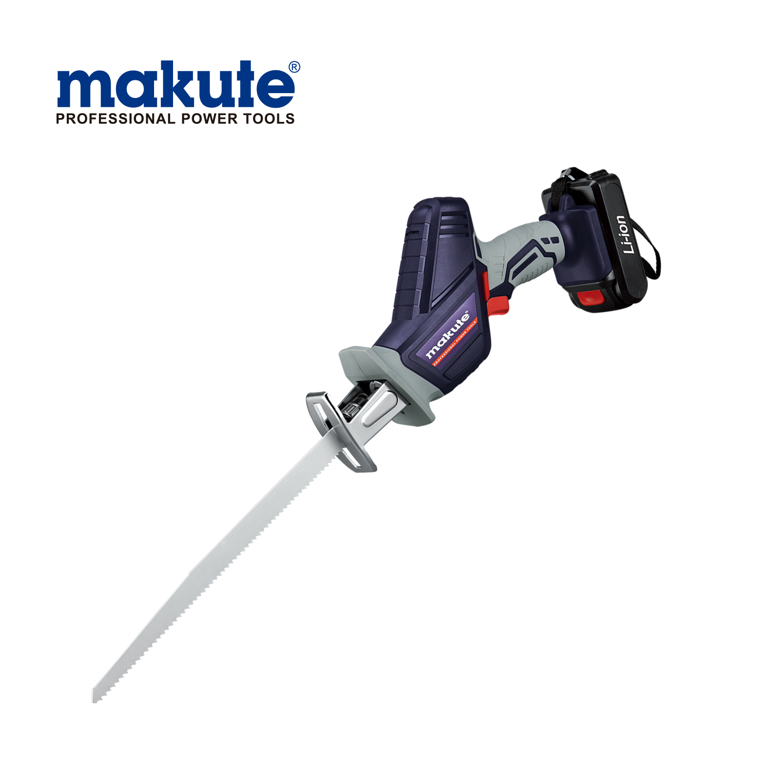 Makute Lithium automatic rechargeable wood cutting powerful saw DC Cordless Battery 12/16/20V cordless reciprocating saw cutting metal